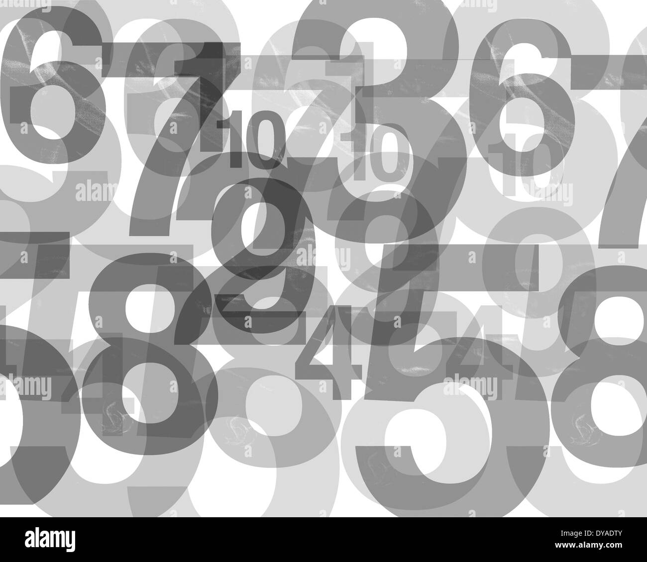 GRAPHIC DESIGN: The Numbers Game - Stock Image