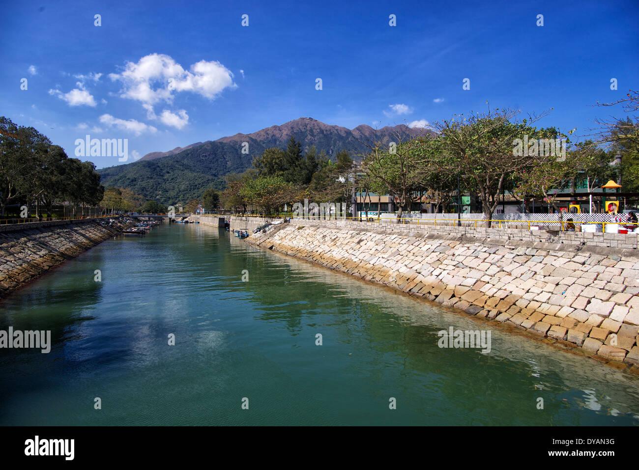 Hong Kong Lantau Island Mui Wo river - Stock Image