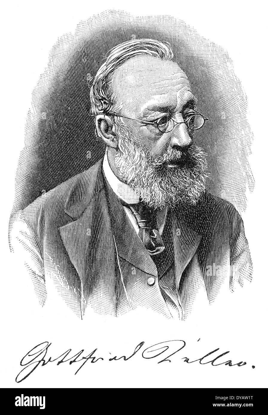 Gottfried Keller, 1819 - 1890, a Swiss poet and writer of German literature - Stock Image