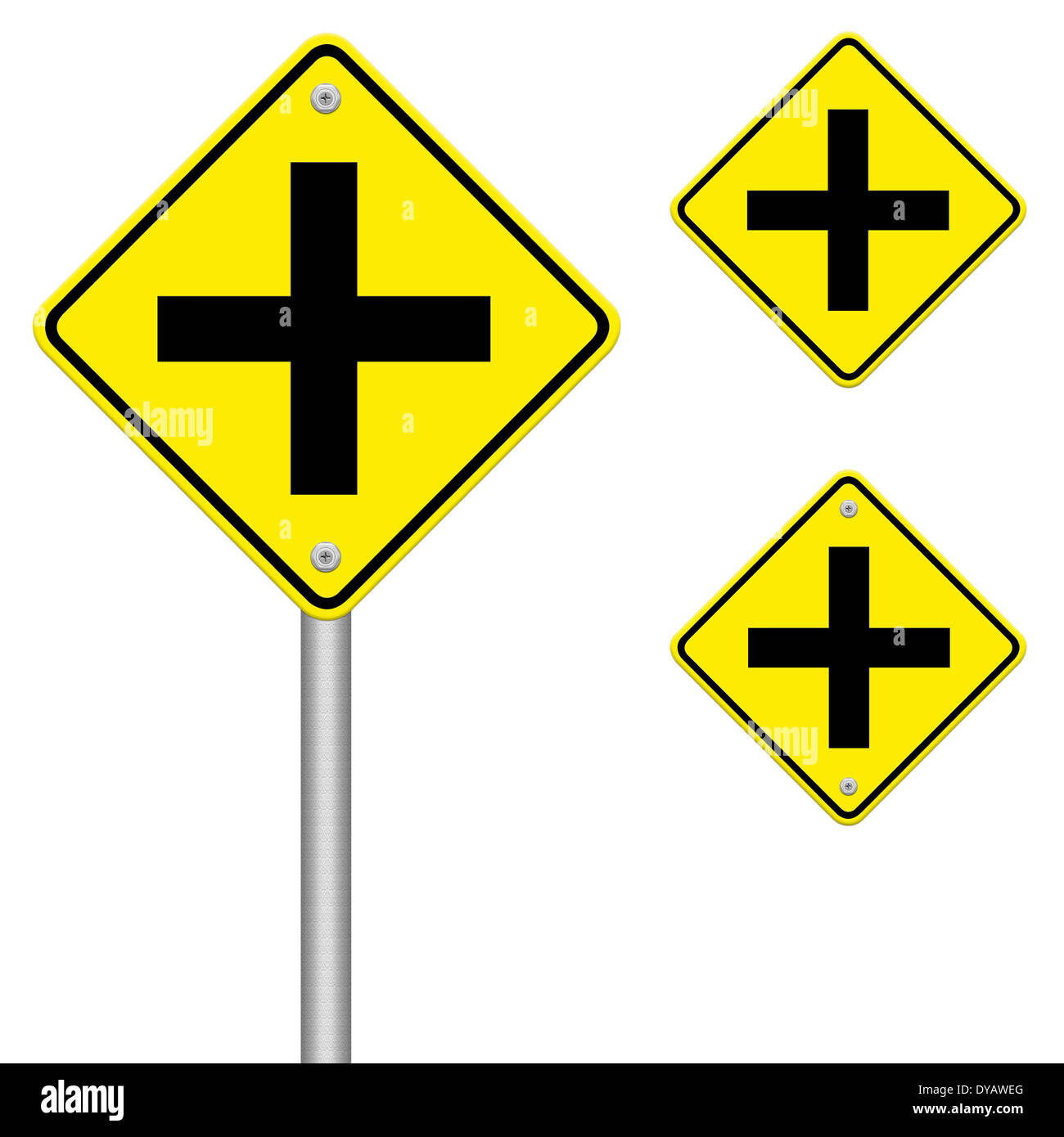 Road Sign Crossing - Stock Image