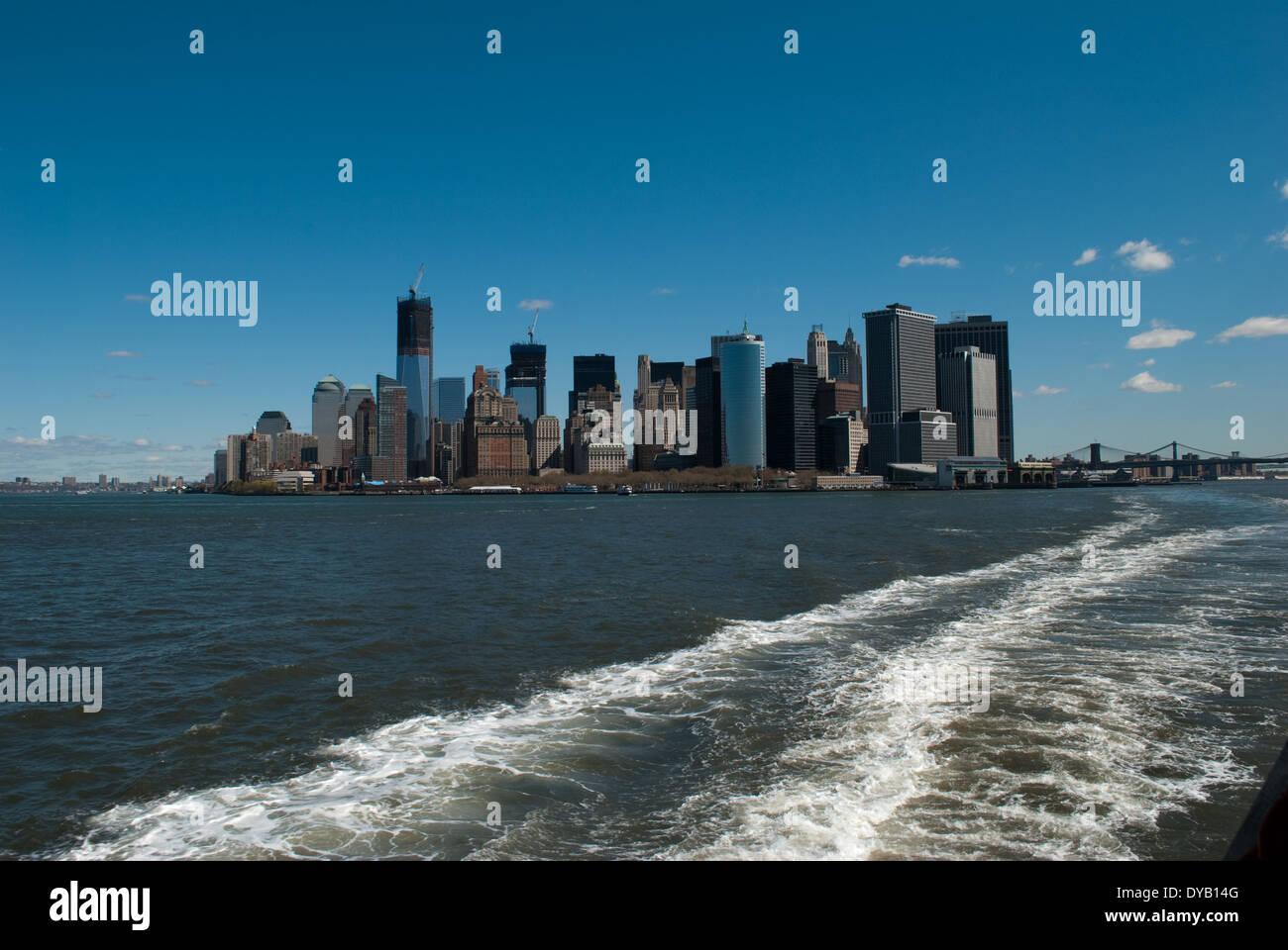 downtown Manhattan - Stock Image