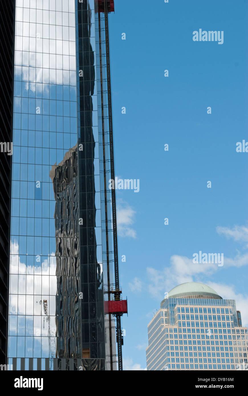 rebuilding the World Trade Center - Stock Image