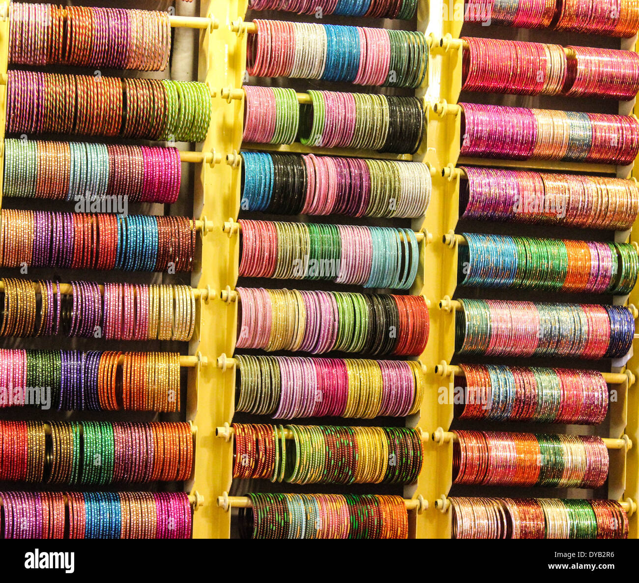 Array of Bangles Display - Stock Image