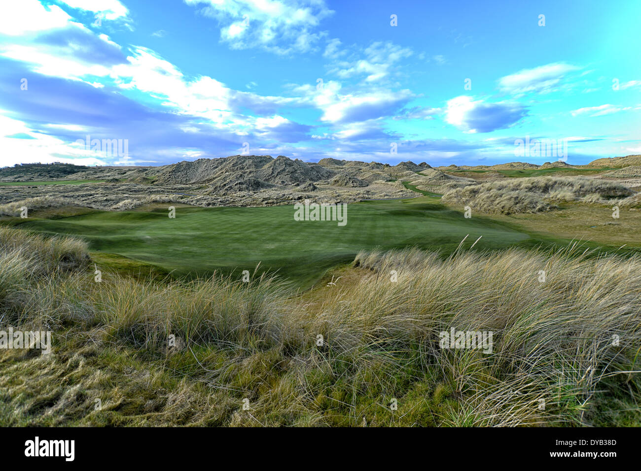 Image of Trump International Golf Links in Aberdeen, Scotland - Stock Image