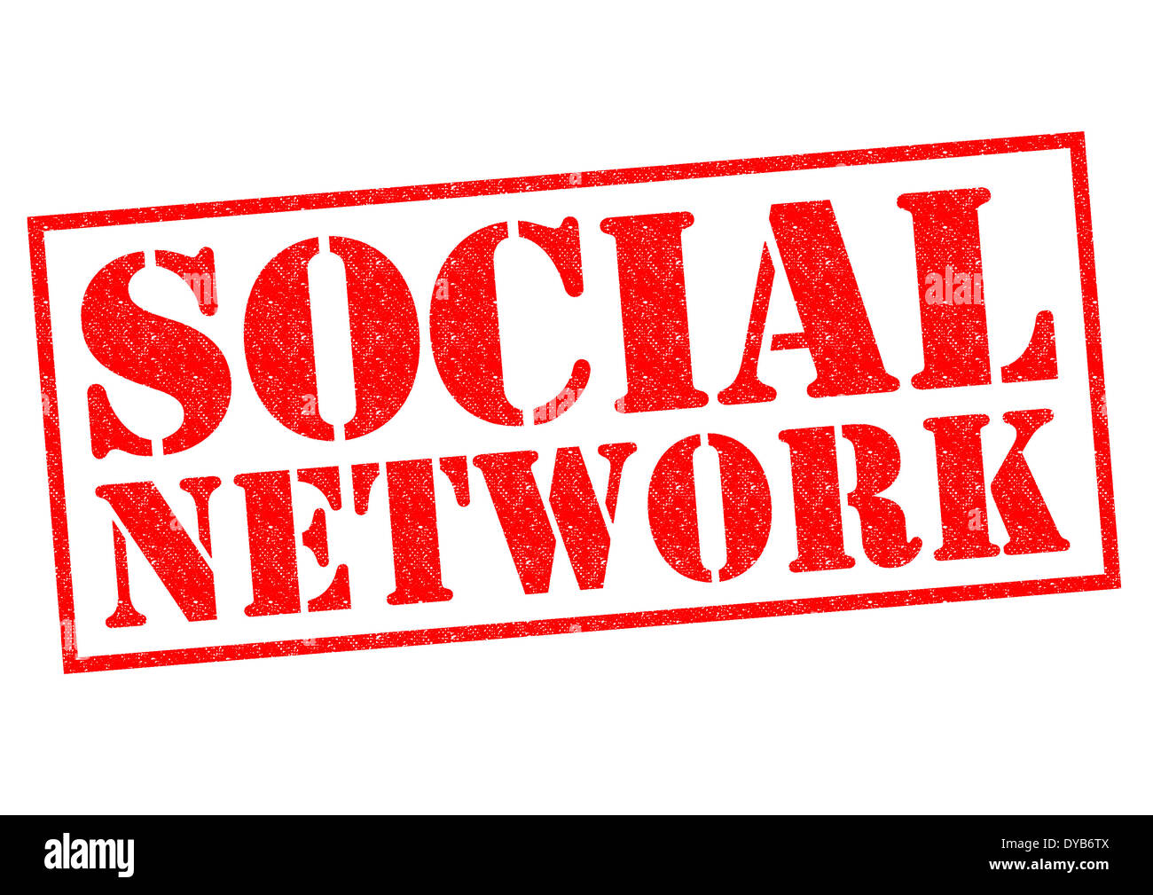 SOCIAL NETWORK red Rubber Stamp over a white background. - Stock Image