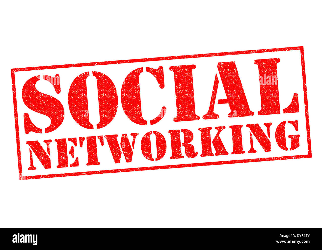 SOCIAL NETWORKING red Rubber Stamp over a white background. - Stock Image