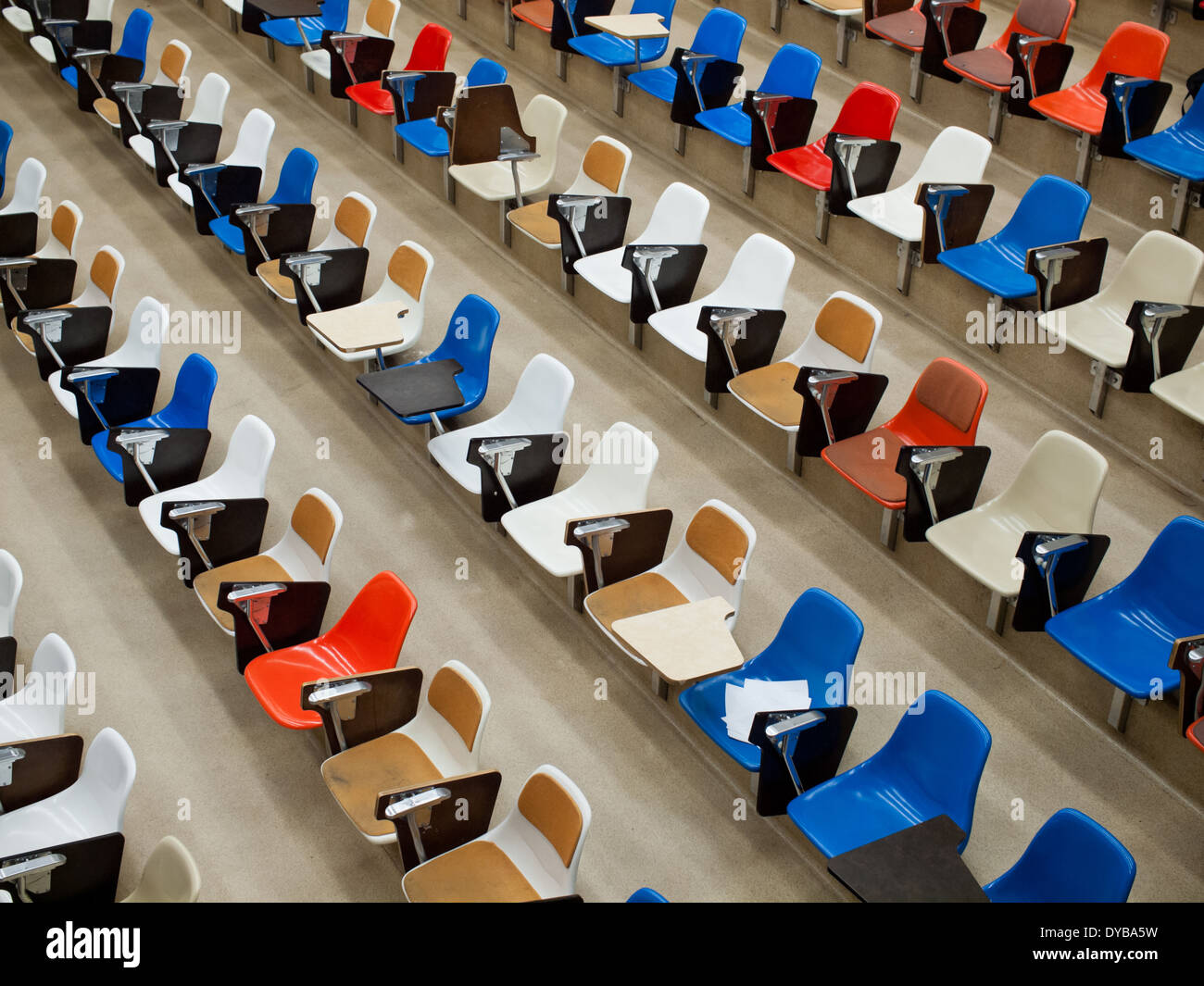 Empty seats in a lecture hall in the Gunning / Lemieux Chemistry Centre at the University of Alberta in Edmonton, Canada. - Stock Image
