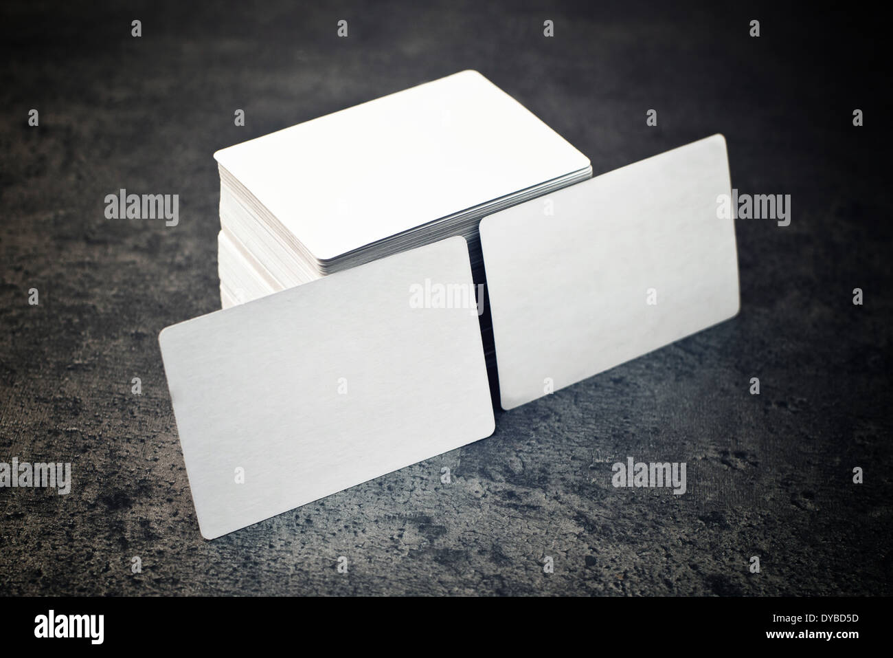 Blank business cards with rounded corners Stock Photo: 68478633 - Alamy
