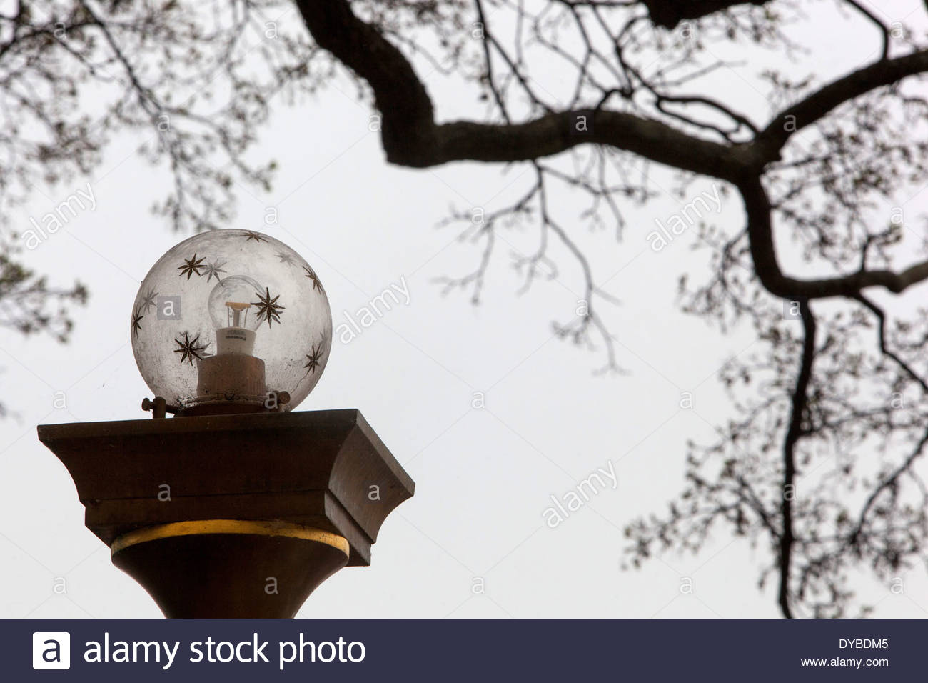 Royal garden lamp Prague Castle Czech Republic - Stock Image