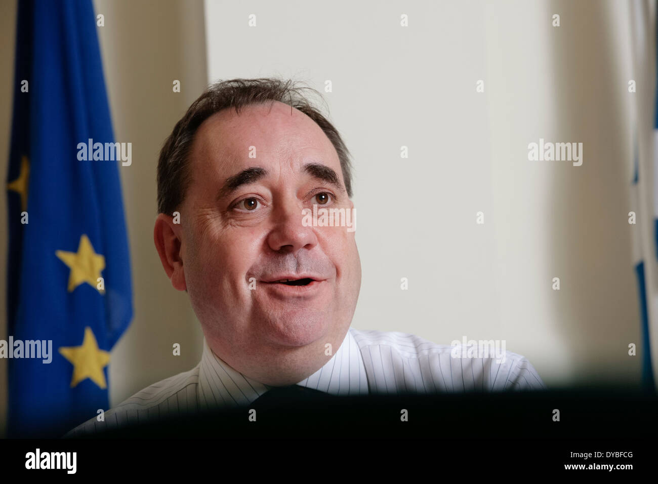 Scotland's First Minister Alex Salmond, MSP and SNP party leader. - Stock Image