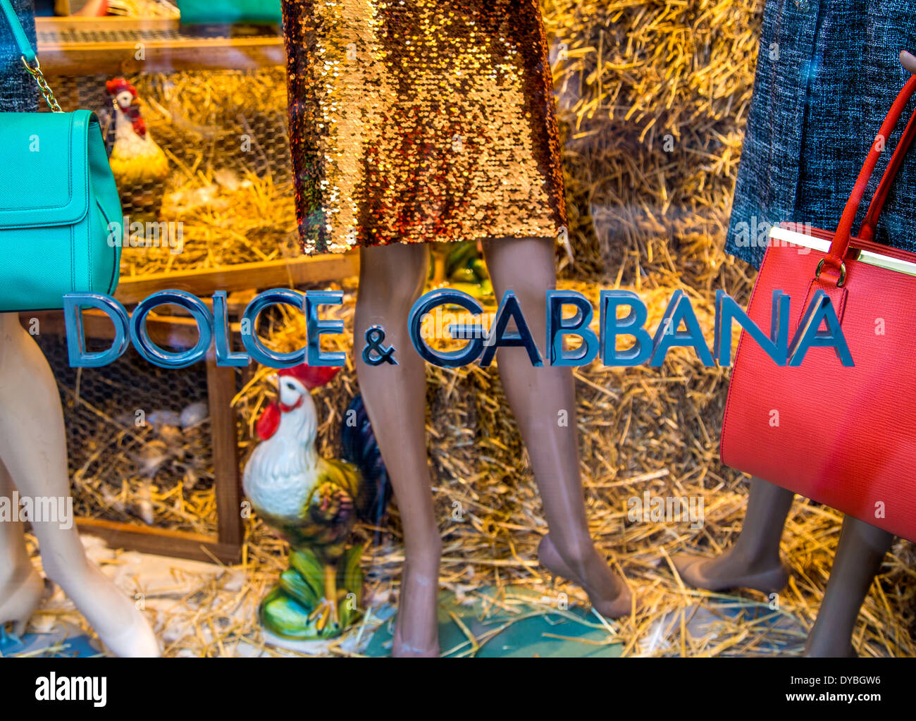 Dolce & Gabbana shop in Milan - Stock Image