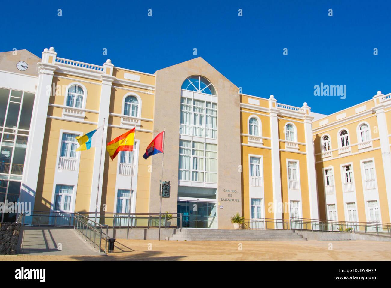 Cabildo de Lanzarote, Arrecife, Lanzarote, Canary Islands, Spain, Europe - Stock Image