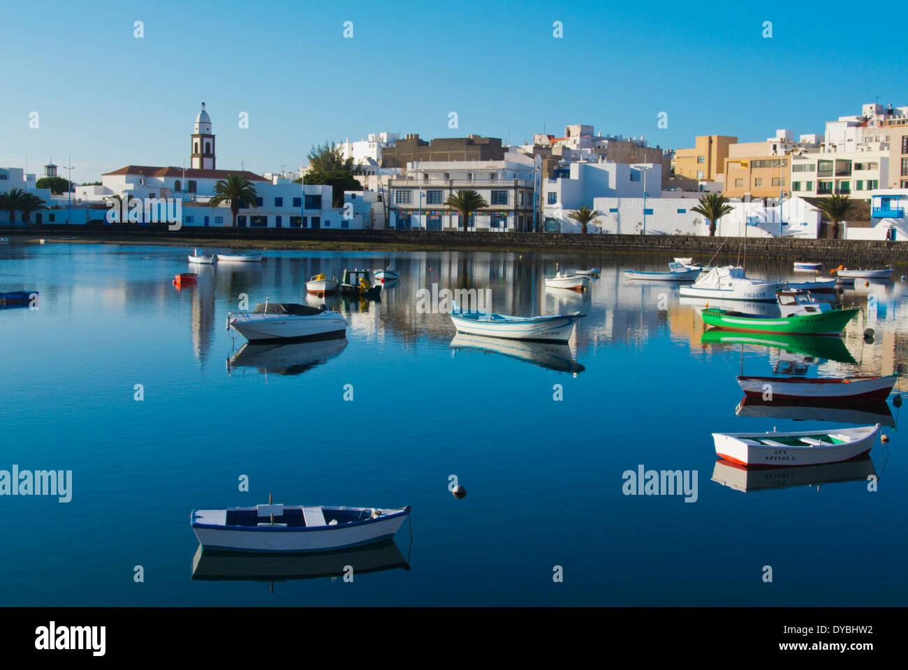 Charco de San Gines lake,Arrecife, Lanzarote, Canary Islands, Spain, Europe - Stock Image
