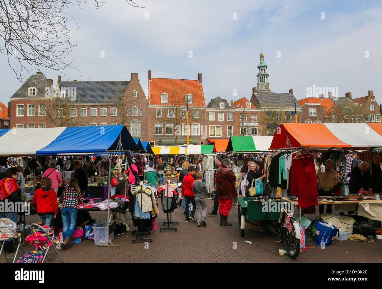 flea market on the main square of middelburg capital of zeeland stock photo 68483254 alamy. Black Bedroom Furniture Sets. Home Design Ideas