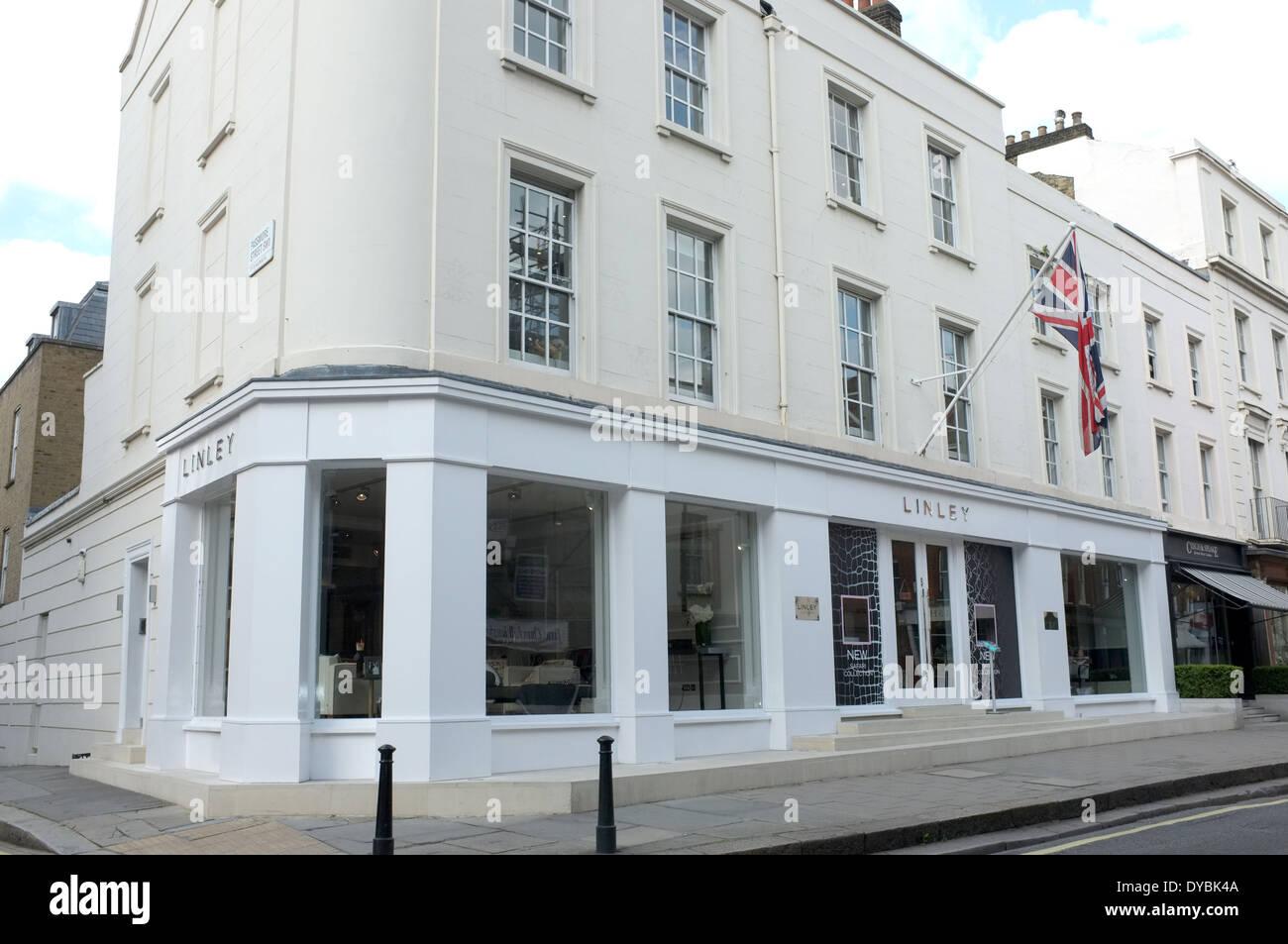 linley furniture shop pimilico road london sw1 uk 2014 - Stock Image