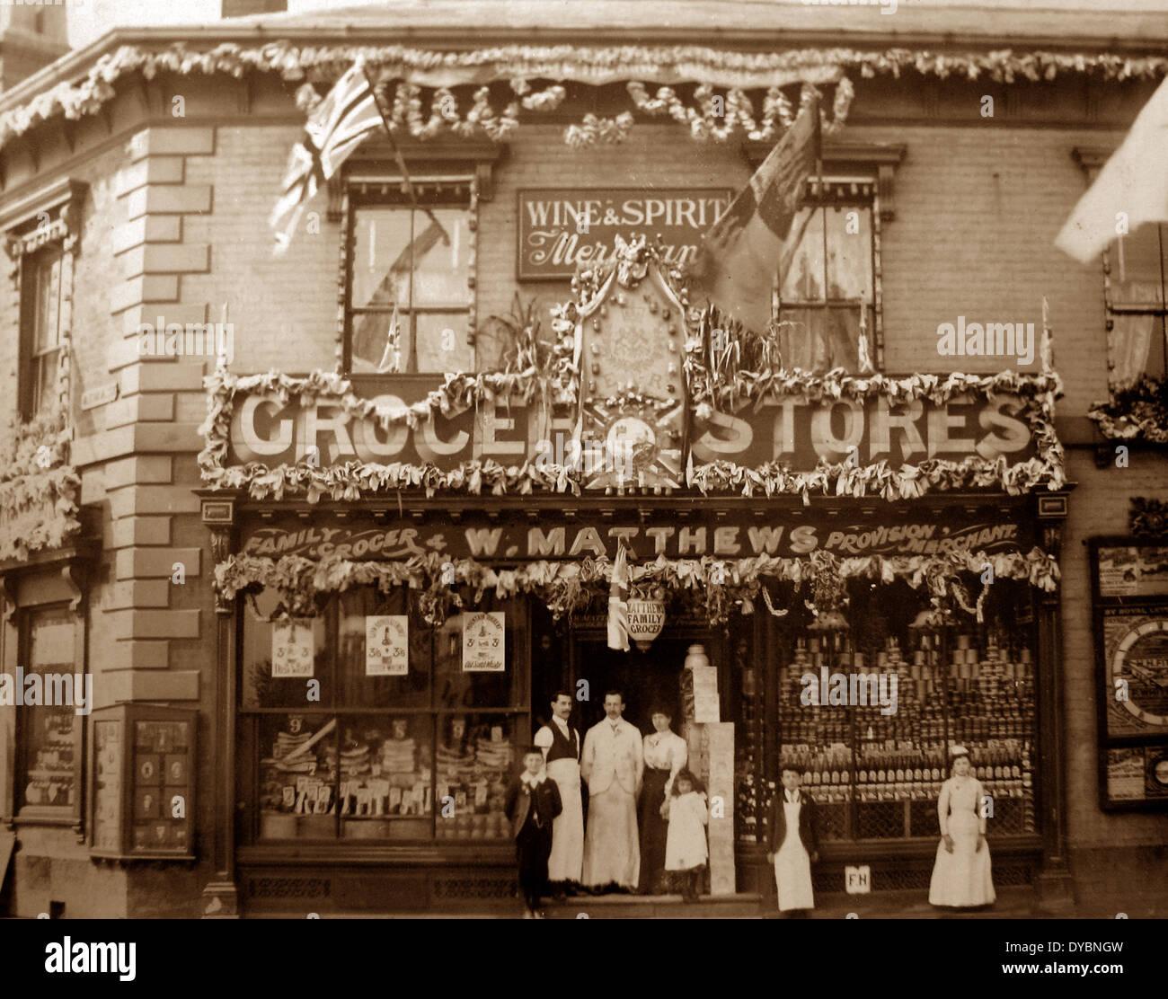 Matthews Grocery Store Six Ways Aston Birmingham Victorian period - Stock Image