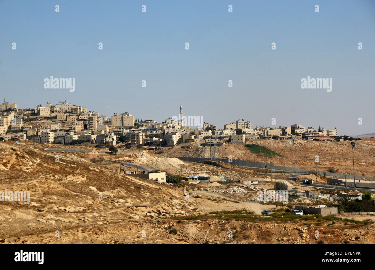 West Bank settlements near Jerusalem, Israel - Stock Image