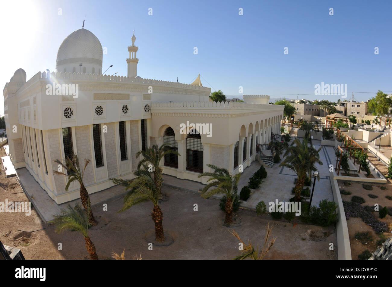 Al-Sharif Al-Hussein bin Ali mosque, Aqaba, Jordan - Stock Image