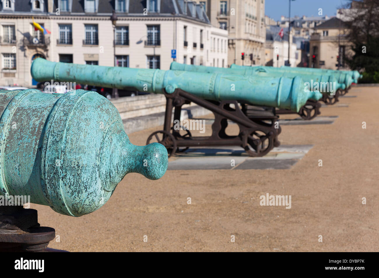 Cannons in the Invalides, Paris, Ile-de-france, France - Stock Image