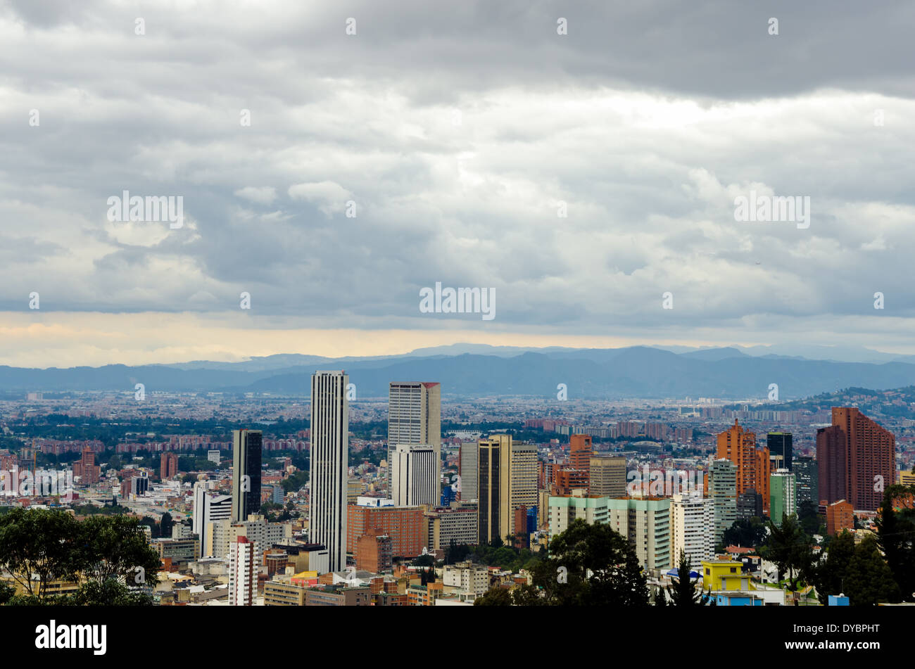 Skyscrapers in downtown Bogota, Colombia - Stock Image