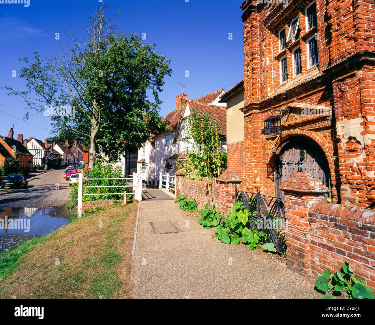 Kersey village Suffolk East Anglia England UK - Stock Image