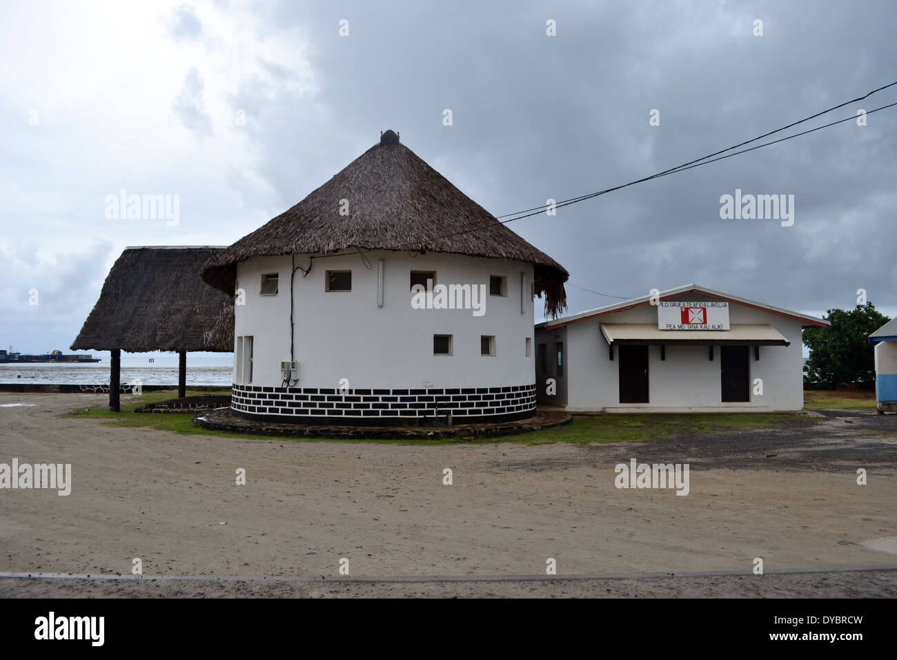 Fale Fono, place used by the local chiefs to address their people, Matautu, Wallis Island, Wallis and Futuna, Melanesia - Stock Image