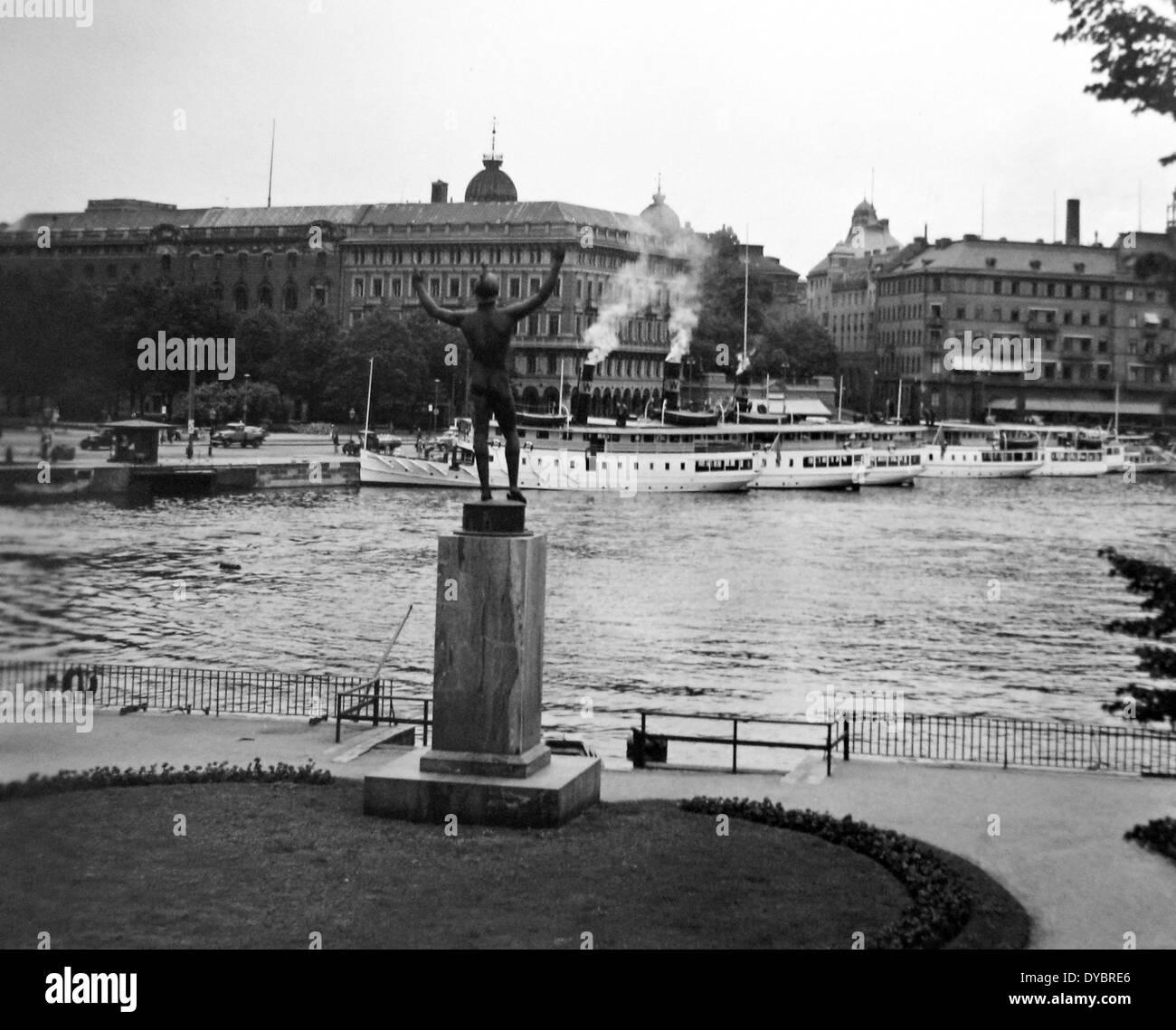 Stockholm Sweden probably 1930s - Stock Image
