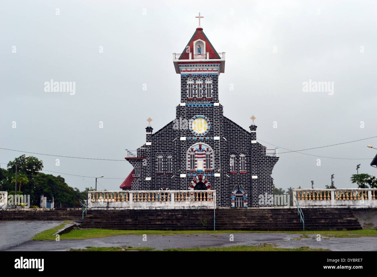 Church of Malaefoou in the district of Mua, Wallis Island, Wallis and Futuna, Melanesia, South Pacific - Stock Image