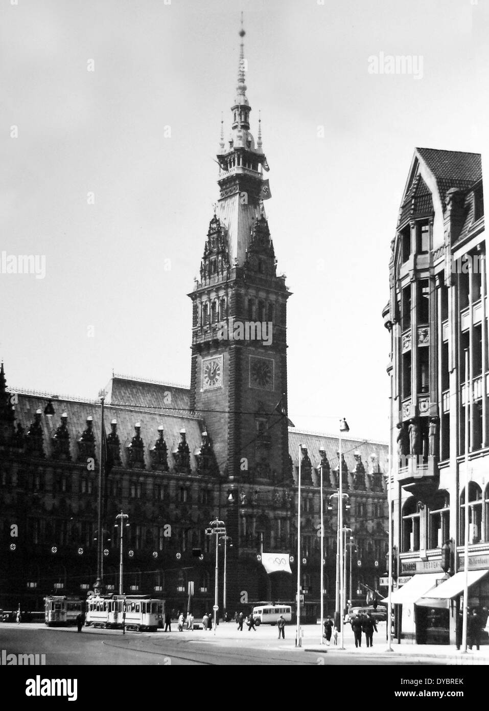 Hamburg Germany in the 1930s - Stock Image