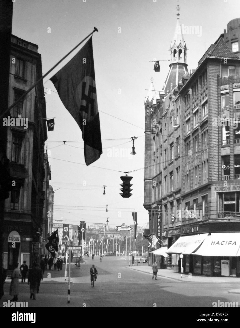Hamburg Germany in the 1930s - Stock Image