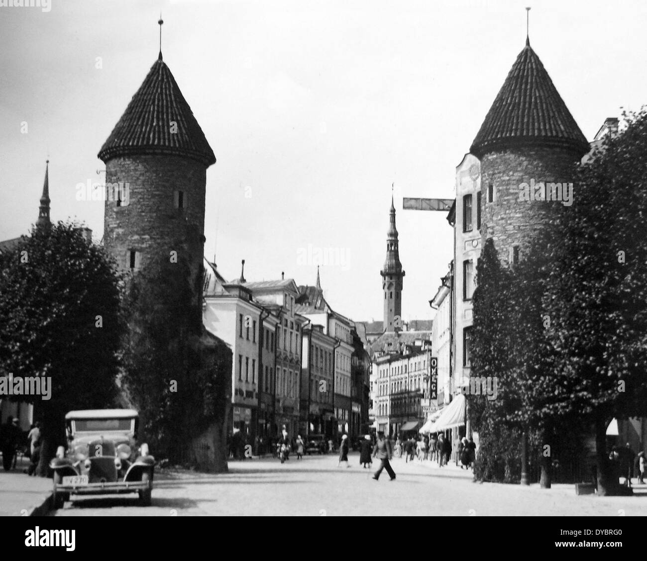 Tallinn Estonia probably 1930s - Stock Image