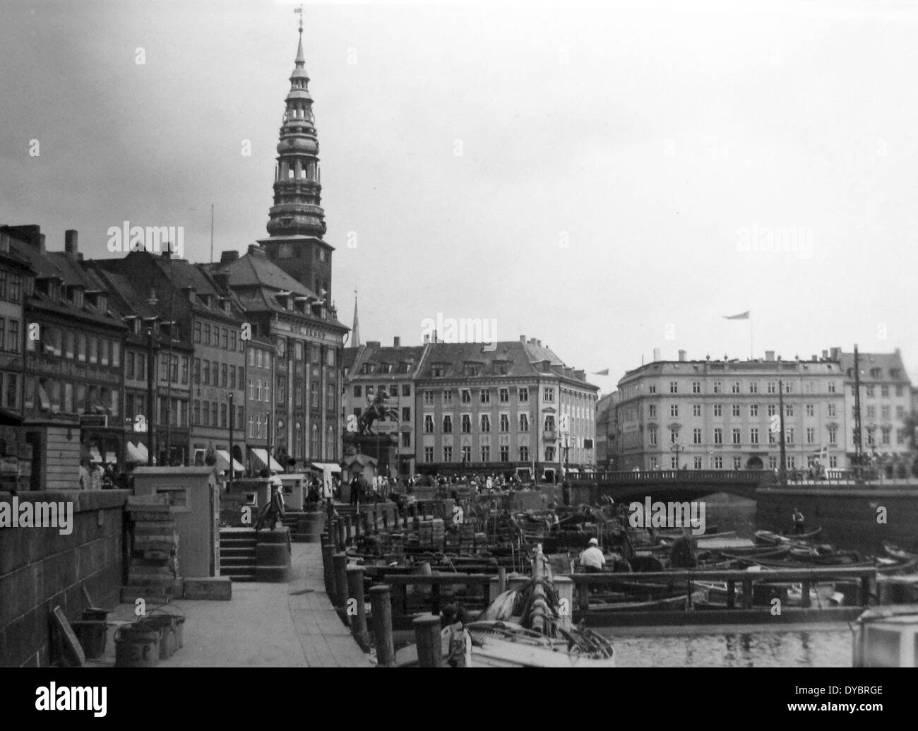 Copenhagen Denmark probably 1930s - Stock Image