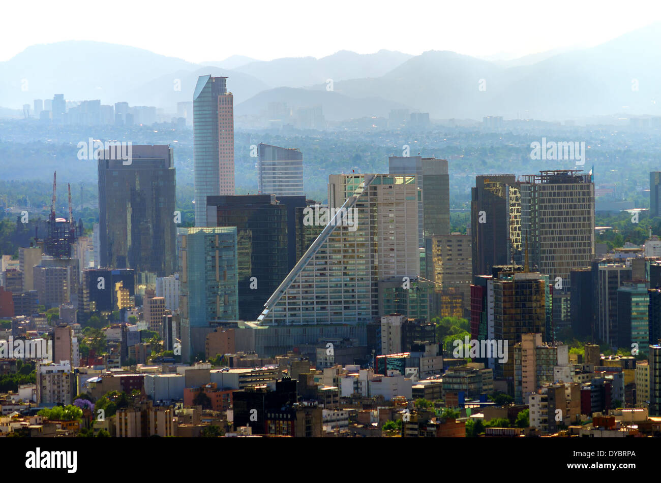 A view of downtown Mexico City, Mexico - Stock Image