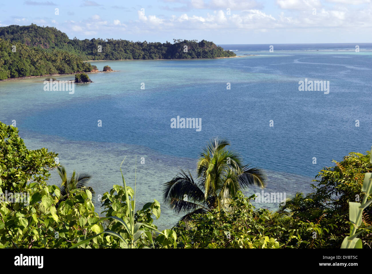 View of Nukuatea Islet, Wallis Island, Wallis and Futuna, Melanesia, South Pacific - Stock Image