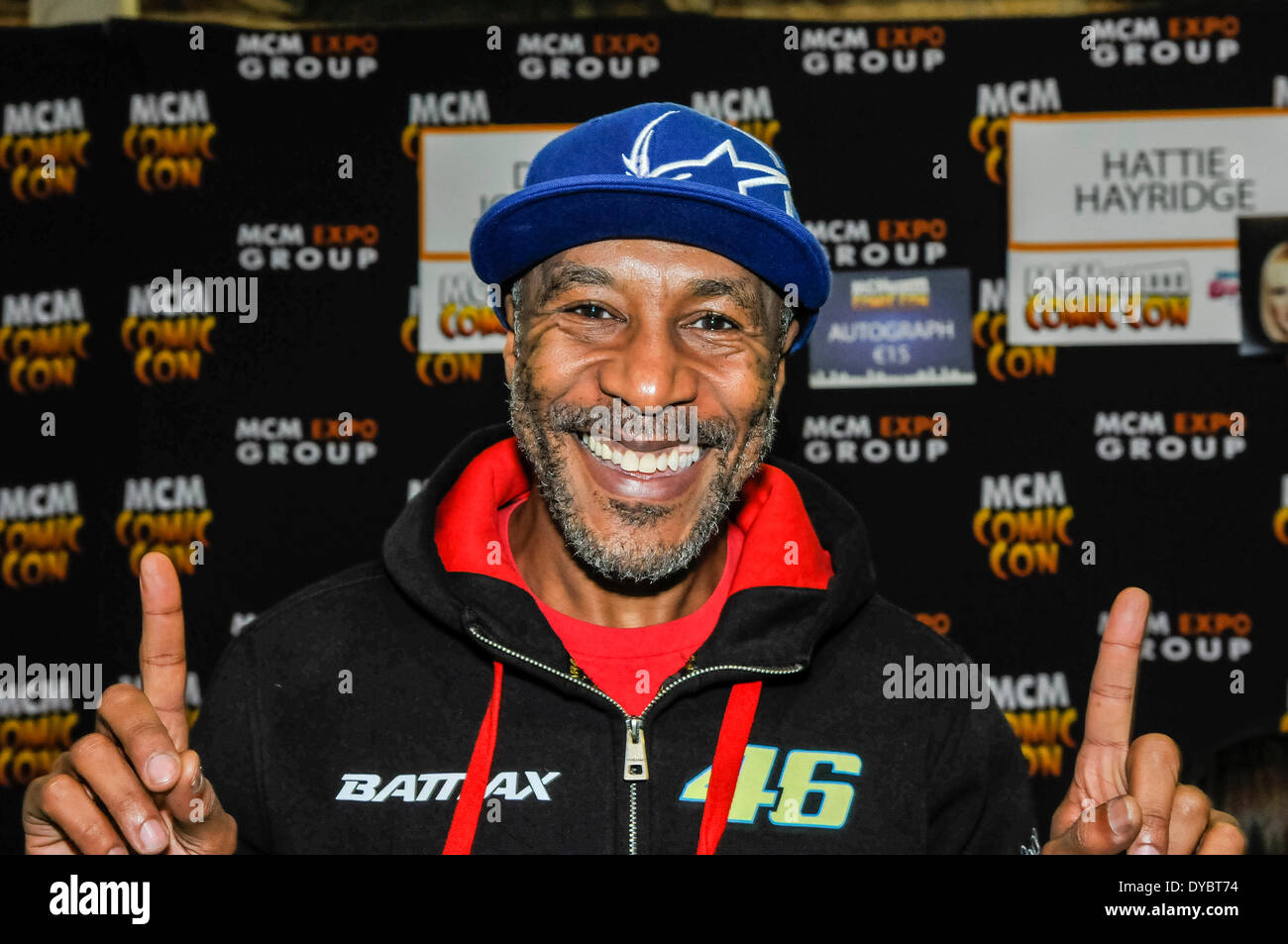 Dublin, Ireland. 13 Apr 2014 - Danny John Jules, most famous for playing 'Cat' in Red Dwarf, appears at MCM Comic Con Credit:  Stephen Barnes/Alamy Live News - Stock Image