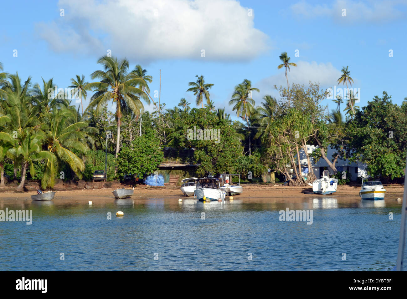 Halalo Village, Mua district, Wallis Island, Wallis and Futuna, South Pacific - Stock Image