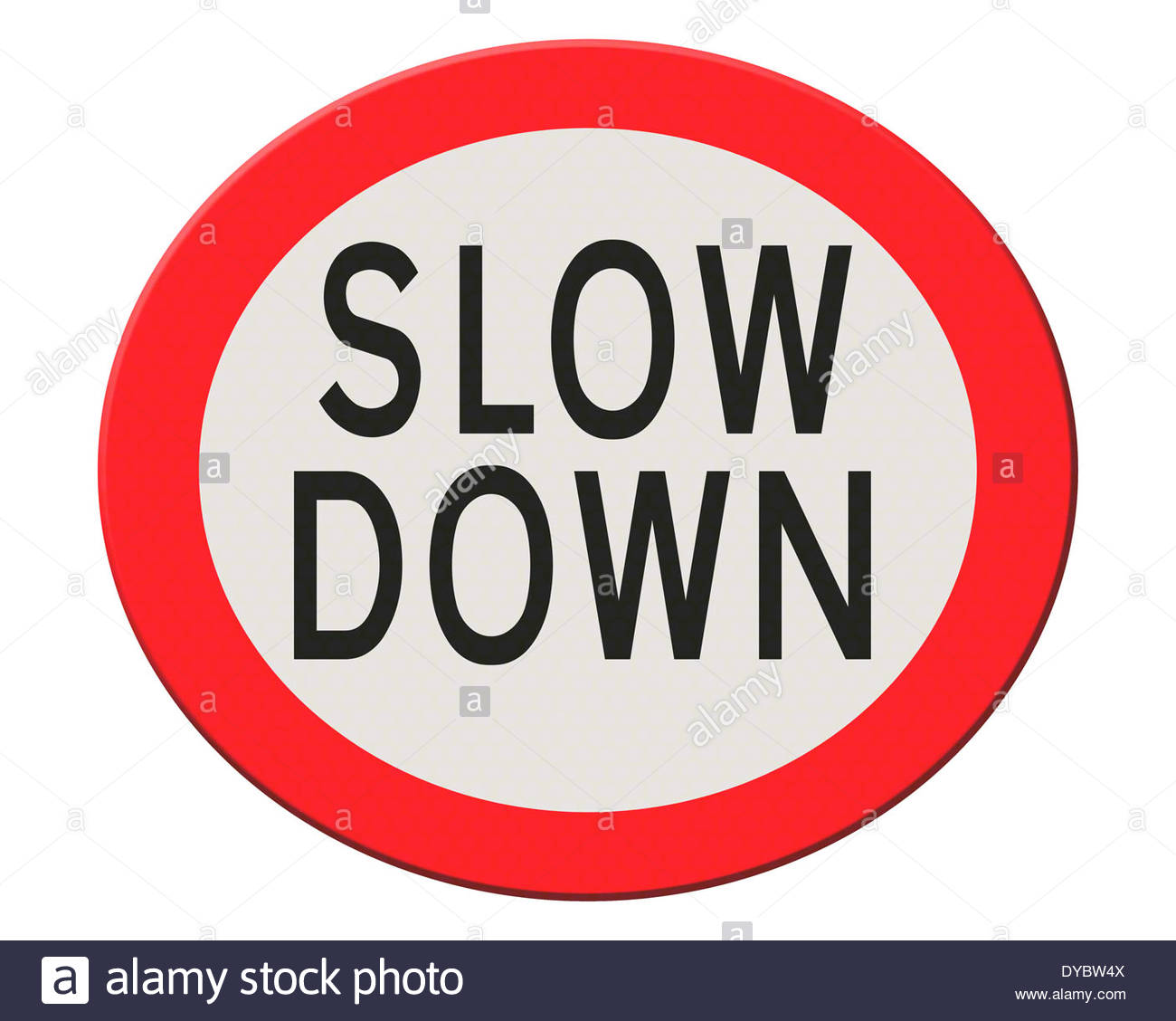 Digital composition - Slow down - Stock Image