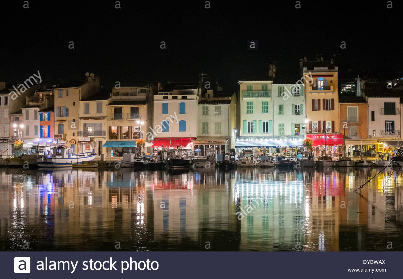 Cassis Harbor At Night Bouches Du Rhone Provence Alpes Cote D