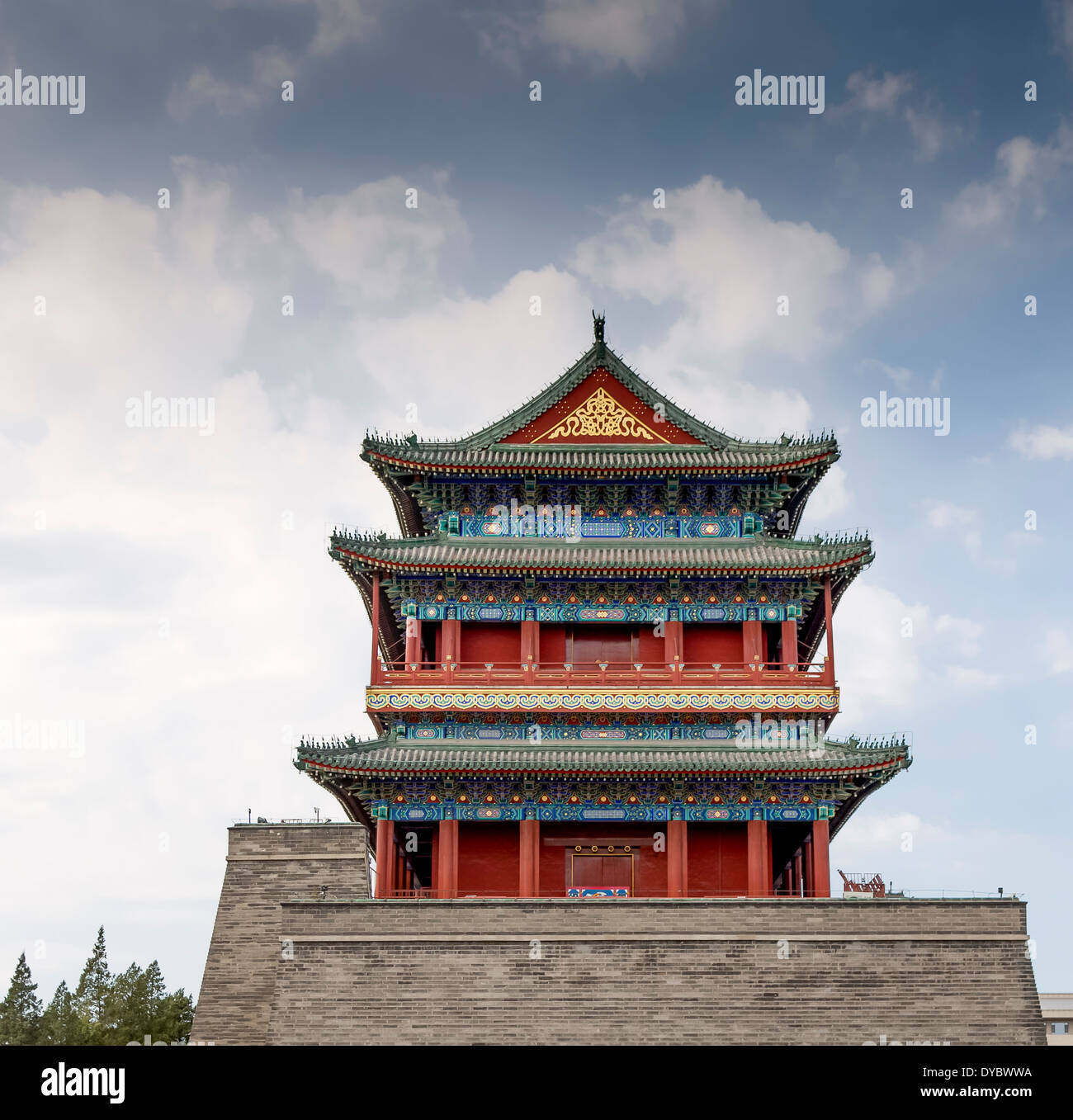 ASIA Beijing CHINA Chinese architecture Front Gate Tiananmen Square Beijing China - Stock Image