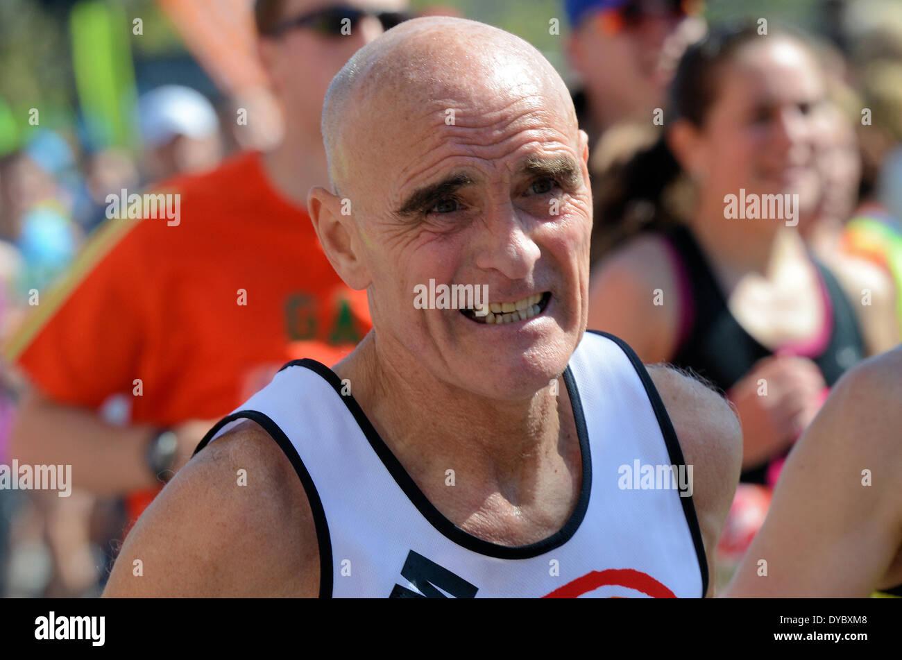 The London Marathon, London, UK - 13 April 2014. - Stock Image