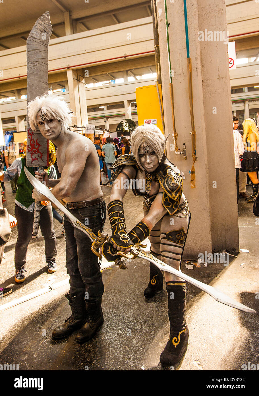 Turin, Piedmont, Italy. 13th April, 2014. Lingotto Fiere 13 April 2014 Torino Comics exhibition  Cosplay © Realy Easy Star/Alamy - Stock Image