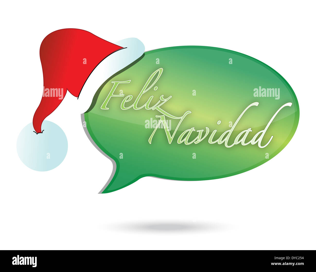 Christmas Wishes In Spanish.Merry Christmas Message In Spanish Illustration Design Over
