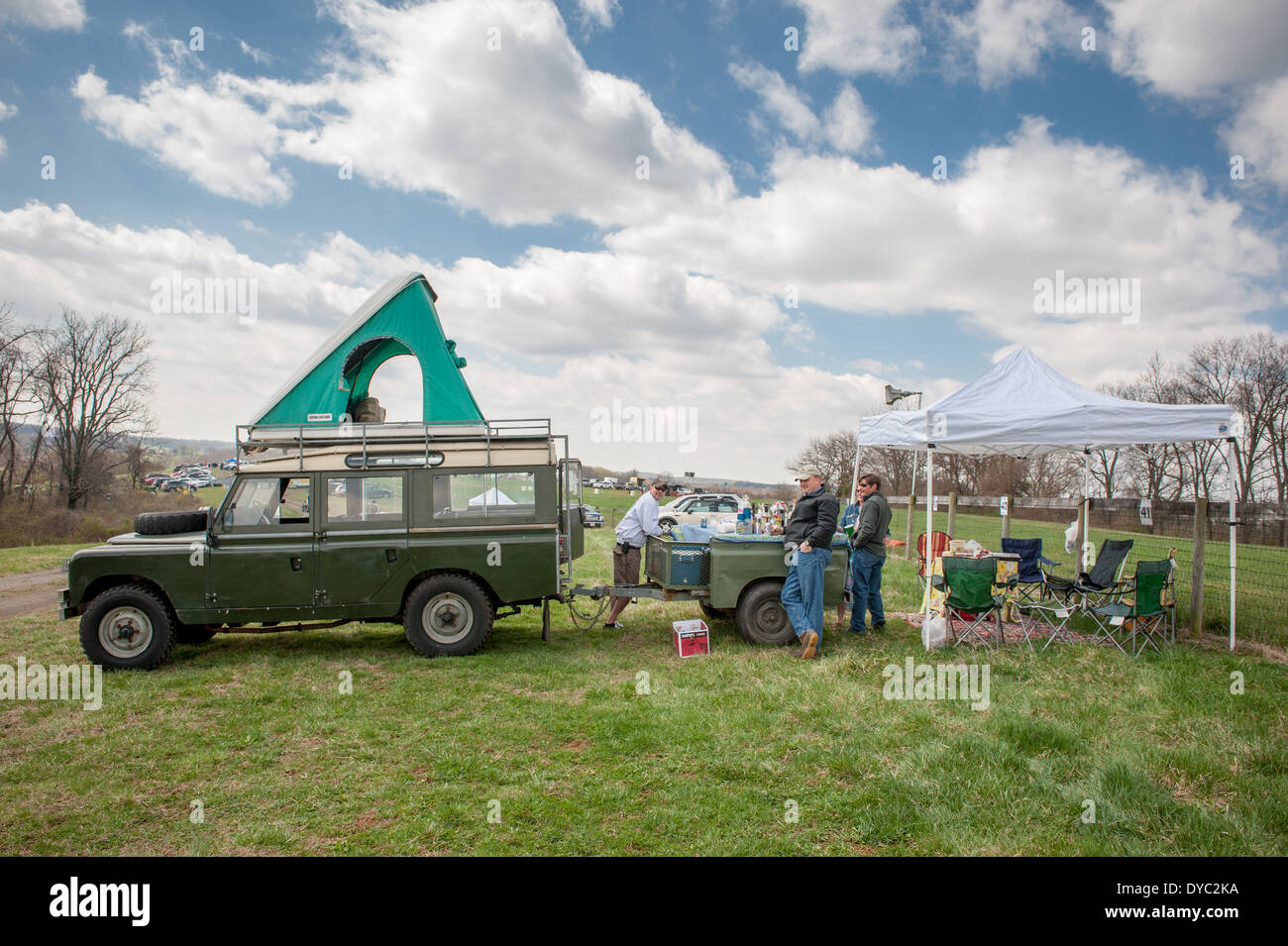 Tailgate party at Manor Races steeple chase race - Stock Image