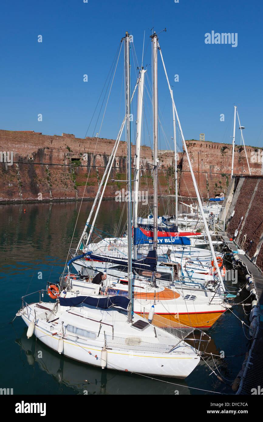 Port of Livorno, Tuscany, Italy - Stock Image