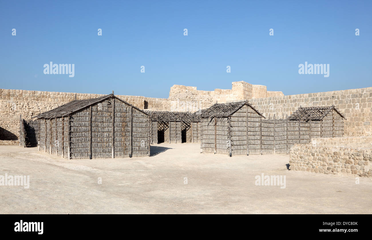 Qal'at al-Bahrain Site Museum (Fort of Bahrain) in Manama, Bahrain, Middle East - Stock Image