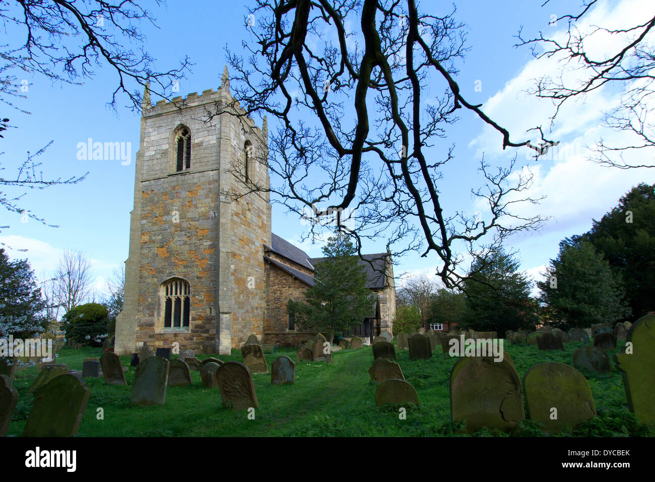 Winteringham all saints church. N E Lincolnshire. - Stock Image