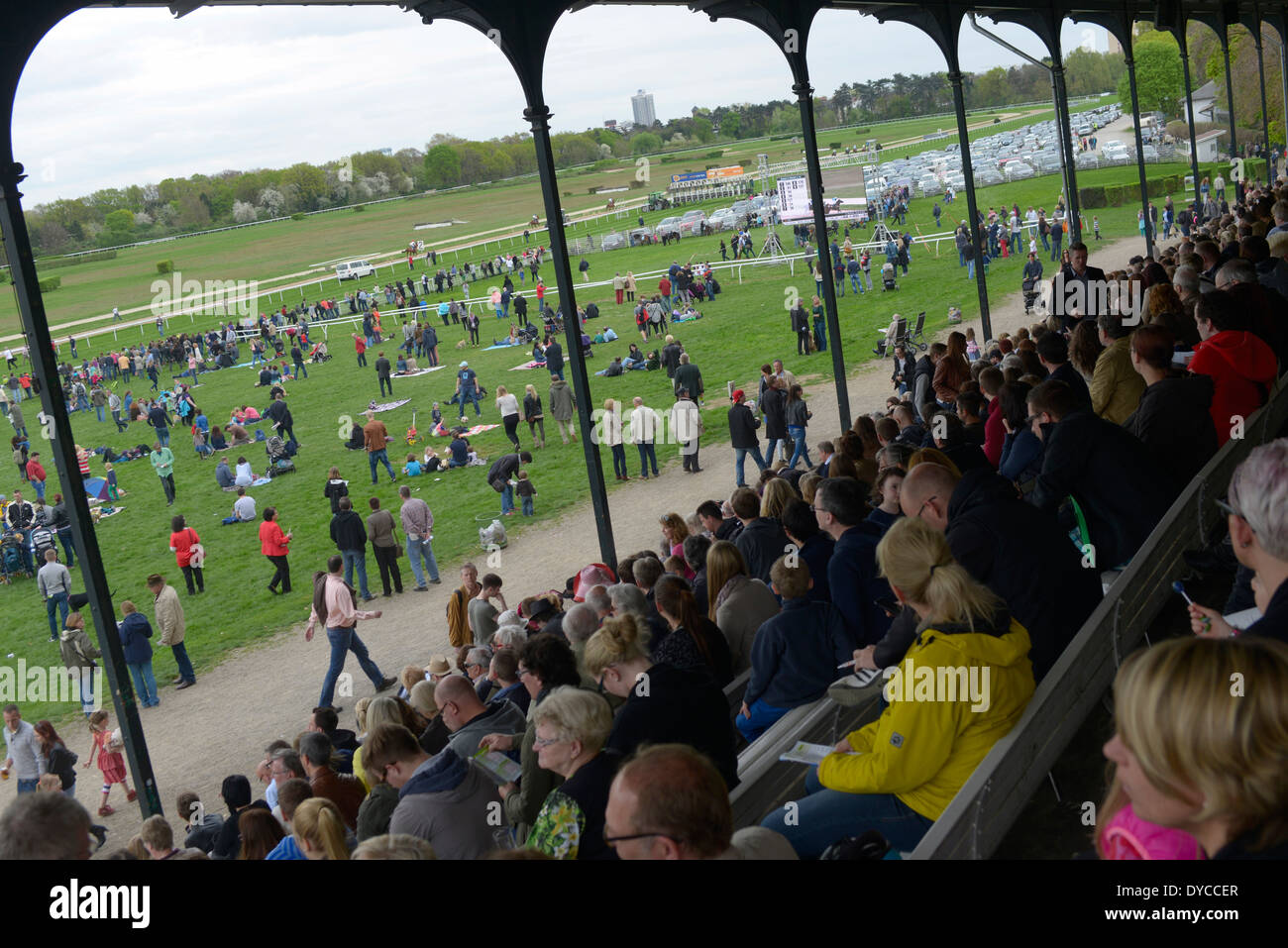 The Cologne-Weidenpesch Racecourse (Galopprennbahn Köln-Weidenpesch) in Nippes established as a race course in 1897 Stock Photo
