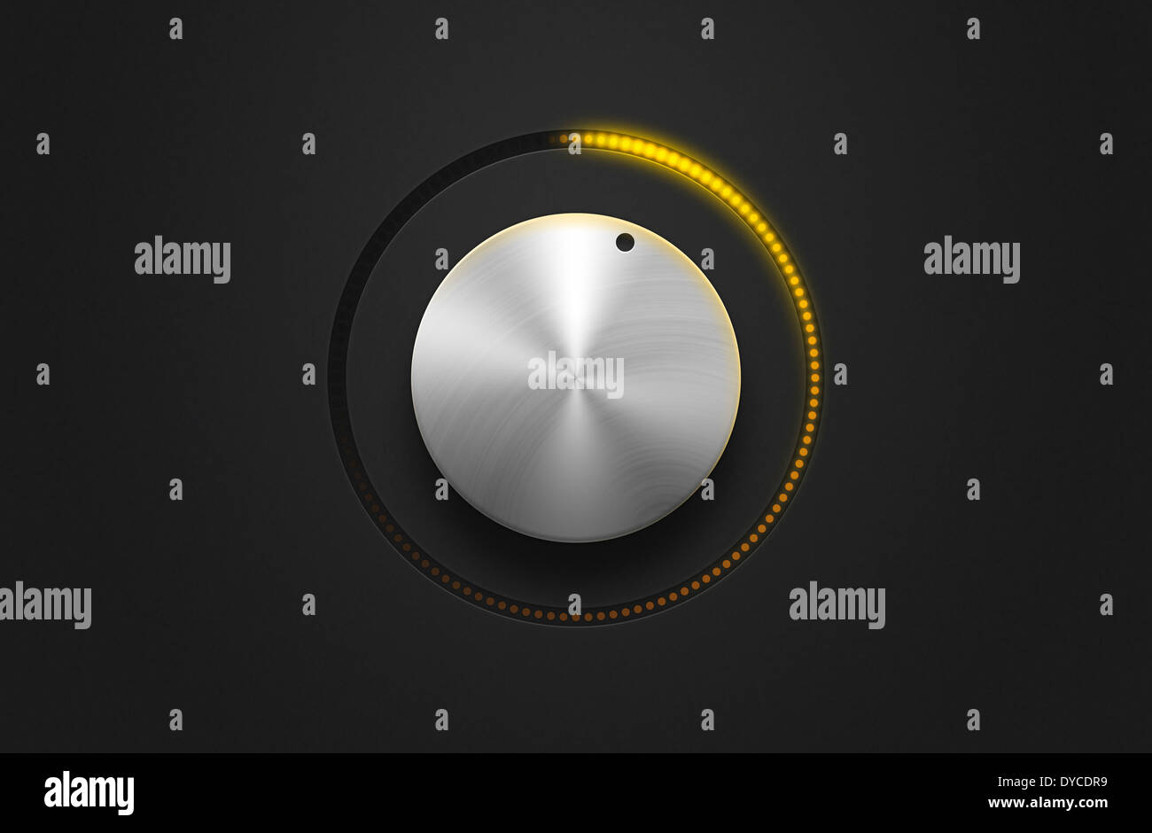 Volume Control Dial Stock Photos Images Knob Illustration A Silver With Lights Image