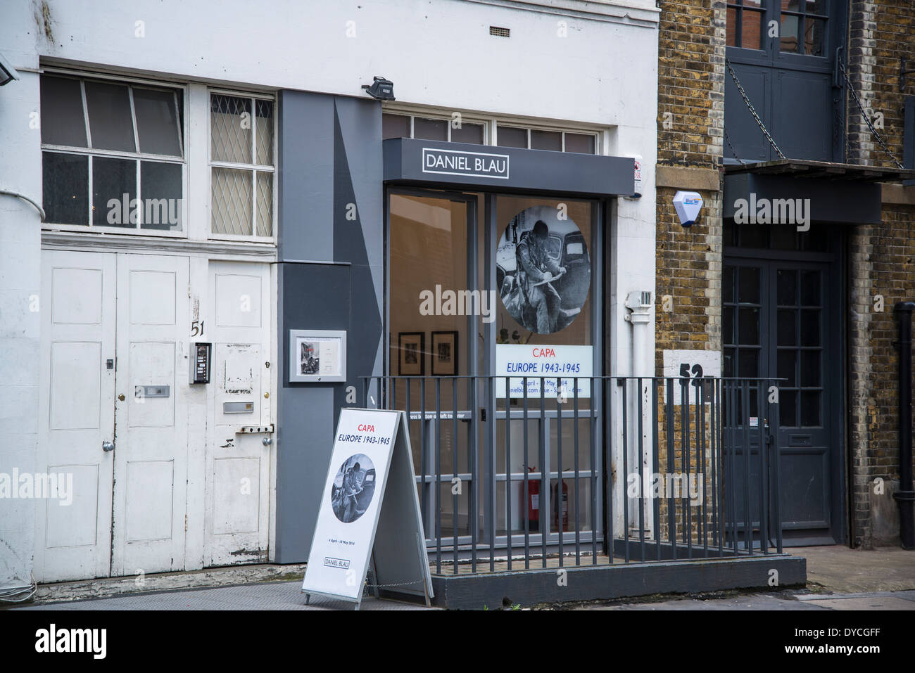 Daniel Blau gallery, Hoxton Square, Shoreditch, London, UK - Stock Image