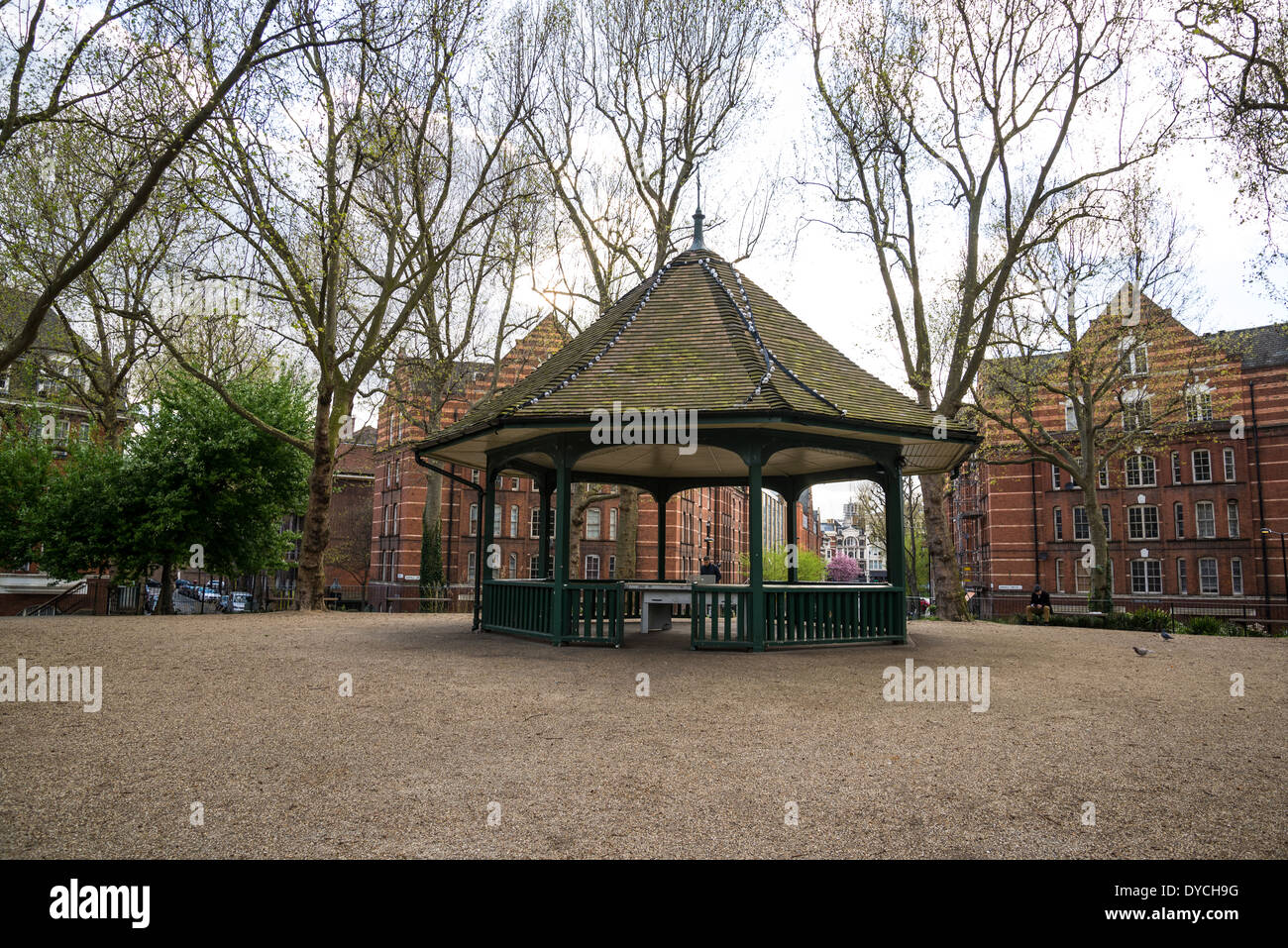 The Boundary Estate bandstand at Arnold Circus, Shoreditch, London, UK - Stock Image
